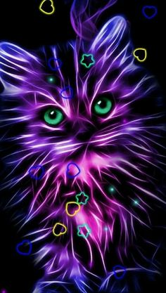 Kitty Wallpaper, Neon Wallpaper, Cute Disney Wallpaper, Butterfly Wallpaper, Cute Wallpaper Backgrounds, Pretty Wallpapers, Animal Wallpaper, Colorful Wallpaper, Sparkle Wallpaper