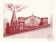 From aside: the Abbey of Bassac, France. Giclee. 10.