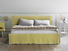 Doppelbett mit Polsterkopfteil LINEA by Letti