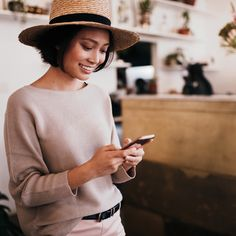 Stock photo of Asian young woman typing message on her smartphone in cafe by crieneimages Strike A Chord, Instagram Accounts To Follow, Carina, Smartphone, Self Empowerment, Successful Women, Look In The Mirror, Good Vibes Only, Caregiver