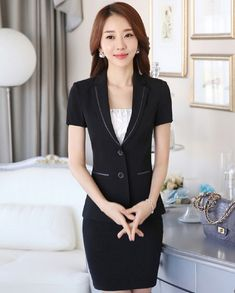 27ad8ec9901b Plus Size 2016 Spring Summer Professional Business Work Suits Jackets And Skirt  Uniform Style Fashion Blazers