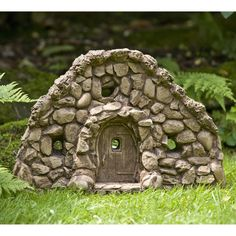 Large Gnome Home Cast Stone