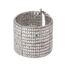 Shining Silver Gilded Cuff Bracelet - WorldFinds