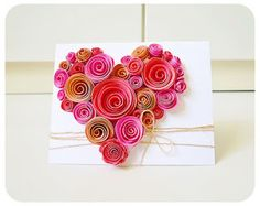 quadros criativos  dia da mãe | Ideias Criativas: Cartão de Rosas de Papel para o Dia das Mães ...