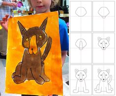 Art Projects for Kids: How to Draw a Dog:  See directions on Art Projects for Kids  Well done.