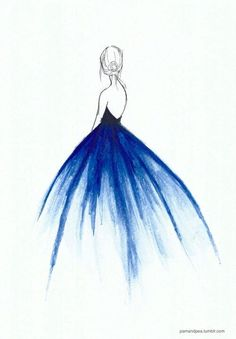 Would love a dress this color that flows to white on the bottom #pencildrawings