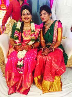 Outfit : Prakash Sarees, Kancheepuram  Jewellery : Shree Raj Jewellers Photography : Kishor Krishnamoothi #southindianwedding #telugubride #teluguwedding south indian bride