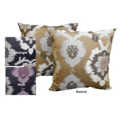 Possible throw pillows for guest room@Overstock - 'Puebla' Woven Ikat Themed 18x18-inch Throw Pillows (Set of 2) - Add something new to your living room by tossing these exotic decorative throw pillows into the mix. Rich woven designs bring the beauty of tapestry to the cover of each pillow. You receive two to help tie together the various elements of a room.  http://www.overstock.com/Home-Garden/Puebla-Woven-Ikat-Themed-18x18-inch-Throw-Pillows-Set-of-2/7710788/product.html?CID=214117…