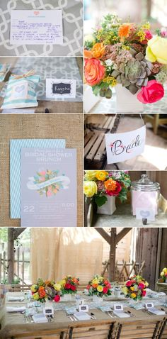 Bridal Shower Brunch - Recipe for a Happy Marriage - Inspiration Board for Wedding Planning.