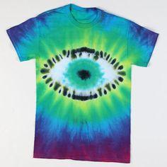Rainbow Rock Tie-Dye Eyeball T-shirt  #tiedye #craft