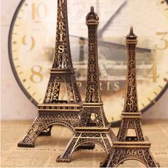 Metal Eiffel Tower Stand Paris France, Brown