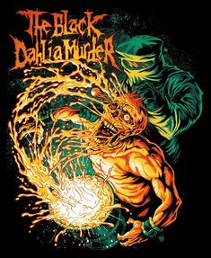 I can finally reveal the full design I did for the metal band The Black Dahlia Murder. They usually have amazing artists like Dan Mumford do their shirt. Metal Band Logos, Metal Bands, Dark Artwork, Metal Artwork, Power Metal, Thrash Metal, Screamo Bands, The Black Dahlia Murder, Rock Y Metal