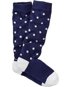 Pitter Pattern Knee Socks from #HannaAndersson.