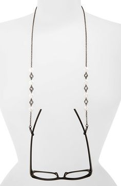 Spring Street Pearly Bead & Crystal Eyeglass Chain available at #Nordstrom