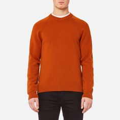 PS by Paul Smith Men's Heavy Merino Plain Knitted Jumper Brick