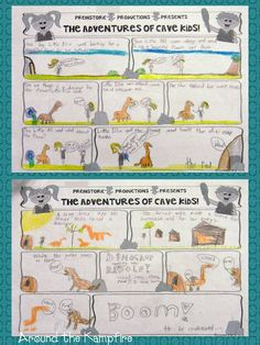 Comic Strip Writing - Great for motivating kids to write!