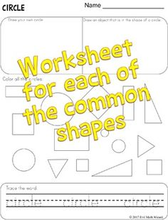 2D Shape Worksheets,