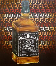 """""""Jack Daniel's"""" (2014) oil on canvas (100x120cm) by Tiina Lilja"""