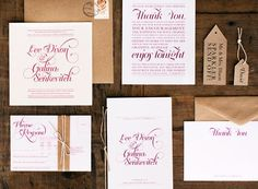 Galina + Lee's Timeless Typography-Inspired Wedding Invitations