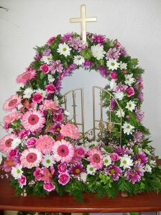 Gates of Heaven - www. Gates of Heaven - www. Funeral Floral Arrangements, Church Flower Arrangements, Grave Flowers, Funeral Flowers, Casket Sprays, Funeral Tributes, Sympathy Flowers, Cream Roses, Easter Wreaths