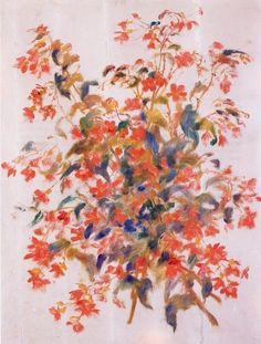 Still Life with Fuscias, Pierre-Auguste Renoir 1879
