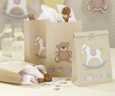 Rocking Horse baby shower theme Gift Bags - Rock a Bye Baby x 5