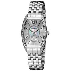 Treat yourself or a loved one to a touch of luxury with this diamond bracelet watch, featuring a charming mother of pearl center adorned with genuine diamonds. The large Roman numeral 12 is a striking accent to this classic timepiece.