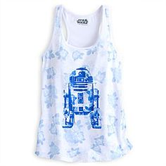 R2-D2 Floral Tank Tee for Women by Her Universe - Star Wars | Disney Store You can experience the beauty of R2-D2's programming with this comfy tank tee by Her Universe, featuring a floral print front and screen art of our daring droid. Perfect for saving the day in style!