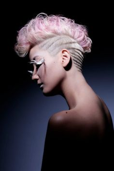 Hidehiko Ito hairtattoo  This is super cool and edgy. I might want to do this riveted/layered style (the buzzed portion, not the top). But probably not, especially because I'm really into the buzzed look. --Tilly