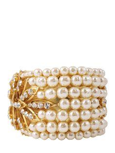 Miriam Haskell pearl cuff bracelet