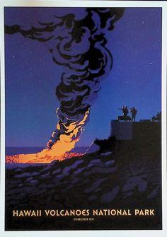 Hawaii Volcanoes National Park, Volcano National Park, National Parks, Movie Posters, Movies, Cards, Films, Film Poster, Cinema