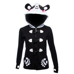 panda paws   Banned Black Panda Paw Hoodie, Banned Womens hoods, Panda Paw Tops UK