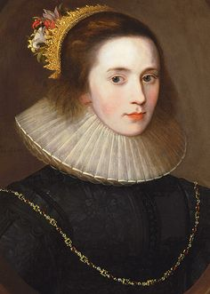 Portrait of Gertrude Sadleir, Lady Aston of Forfar Unknown artist, English School Early Seventeenth Century Historical Costume, Historical Clothing, Female Portrait, Female Art, Woman Portrait, 17th Century Fashion, 16th Century, Ruff Collar, Renaissance Portraits