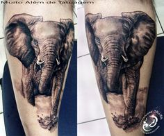 elephant tattoo. Like the style