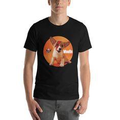 Bowie Puppy Short-Sleeve Unisex T-Shirt Designer Wear, Bowie, Fabric Weights, Puppies, Unisex, Hoodies, Sleeve, Cotton, Mens Tops