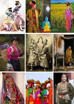 "Ethnic styles via ""thejadebangle"""