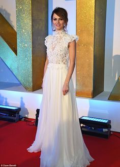 Bridal beauty: Kara Tointon looked exquisite as she attended Wednesday night's National Television Awards in London