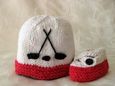 Cotton Knitted Baby Hat  HOCKEY Hand Knitted por CottonPickings, $24.00