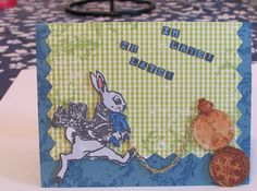 I'm Late I'm Late Alice in Wonderland White Rabbit A2 Greeting card by The Royal Pumpkin on The CraftStar #thecraftstar #uniquegifts