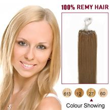 "16"" Strawberry Blonde 100S Micro Loop Human Hair Extensions"