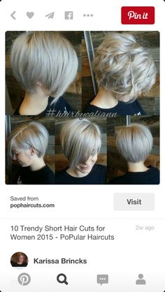 In between a bob and pixie