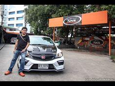 ชุดแต่งรถ Civic FD ทรง Type X สีขาว จาก Nekketsu Racing - YouTube