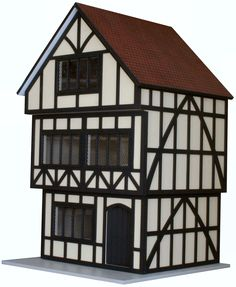 12th Scale Tudor Ready to Assemble Unpainted Dolls House | Hobbies