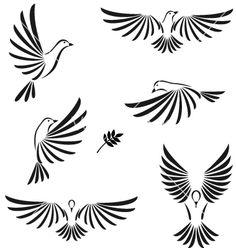 Dove Bird Logo Tattoo Ideas Ideas For 2019 Dove Tattoos, Eagle Tattoos, Tatoos, Santas Tattoo, Henna Designs, Tattoo Designs, Tattoo Ideas, Portuguese Tattoo, Dove Bird