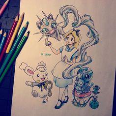 Artist: Itsbirdy | Alice in Wonderland | Pokémon