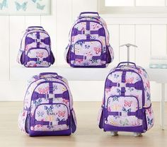 Mackenzie Lavender Butterfly Backpack cf40df61762f8