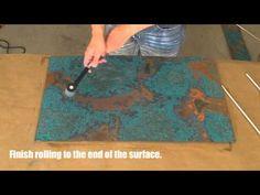 Copper Backsplash Tutorial Using Patina Copper Sheets - YouTube