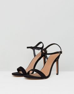 22de3096f685a ASOS DESIGN   ASOS DESIGN Wide Fit Hands Down barely there heeled sandals  Heeled Sandals,