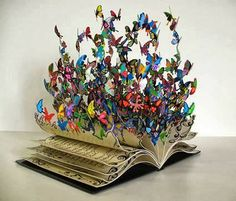 ''The Book of Life'', a colorful metal art sculpture by David Kracov.