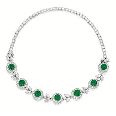 Marie Poutine's Jewels & Royals: Elegant Green Necklaces III